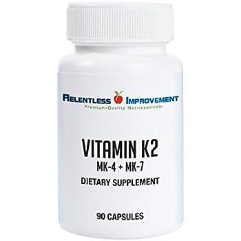 Relentless Improvement Vitamin K2 MK4 Plus MK7