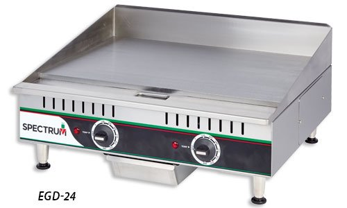 Winco EGD-24, 24-Inch Spectrum Countertop Stainless Steel Electric Griddle