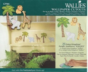 Daisy Kingdom Jungle Jamboree Wallies Wallpaper Cutouts ()