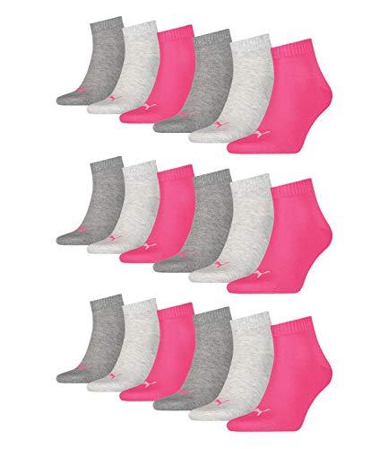 Sneaker Mens 18 Paia Ladies rosa Mélange medio Socks Quarter Grigio 656 Unisex Puma wwZYqE