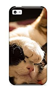 DPatrick Scratch-free Phone Case For Iphone 5c- Retail Packaging - Kittens Sleeping