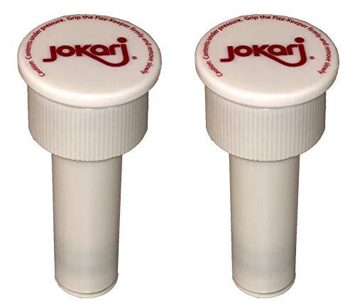 Jokari 05002 – Fizz Keeper pompdop voor flessen van 2 liter – wit 3,6 cm x 8 cm – houdt de Fizz in – 2 Pack
