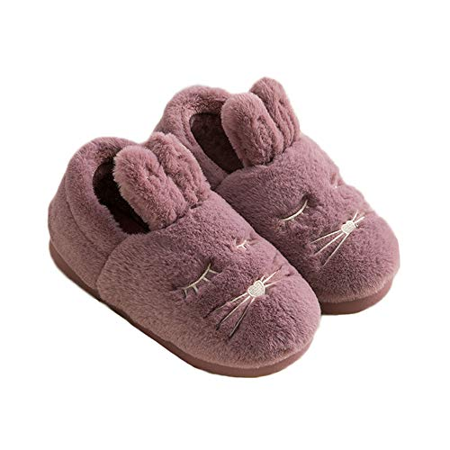 Fleece Cute Rubber Adults Toddlers JadeRich Animal Red Slippers Indoor Warm xS6pInv
