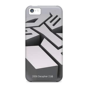 PhilHolmes Iphone 5c Protector Hard Phone Case Unique Design High Resolution Autobots Logo Image [CTg12310mAjK]