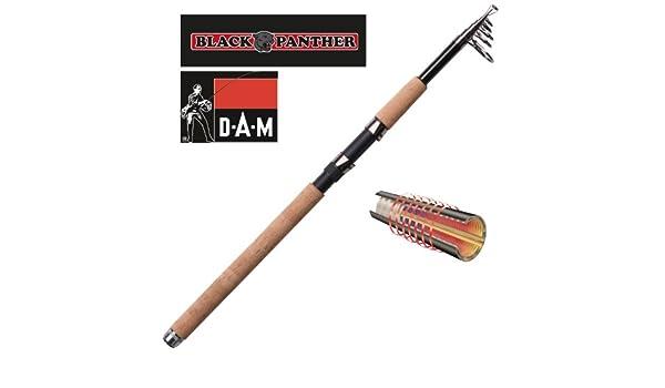 DAM Black Panther Tele 20 - Caña de Pesca Spinning (telescópica) Talla:1,8 m / 6 ft ; 5-20g / 0,18-0,71oz: Amazon.es: Deportes y aire libre