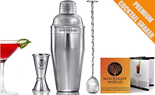 4984d86226019 Cocktail Shaker Set Bartender Kit – Premium Bar Tools Accessories - 24 oz Martini  Shaker Drink