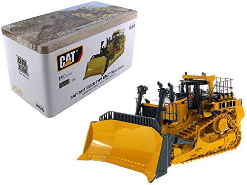 (Cat Caterpillar D11T Track-Type Tractor Dozer JEL Design with Operator High Line Series 1/50 Diecast Model by Diecast Masters 85565)