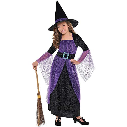 Pretty Girl Halloween Costumes (AMSCAN Pretty Potion Witch Halloween Costume for Girls, Medium, with Included)