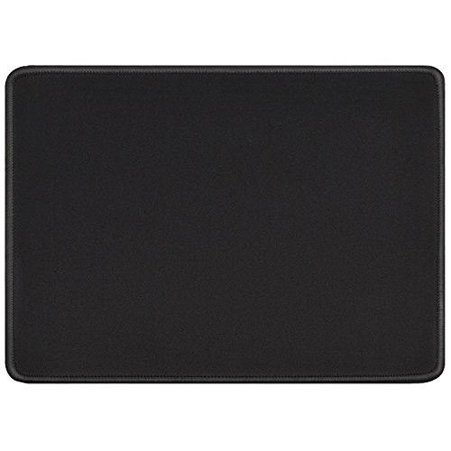 Computer Gaming Mouse Pads (Ktrio Mouse Pad Quality Comfortable Mousepad with Nonslip Rubber Base Computer Gaming Mouse Pad with Stitched Edges Waterproof for Logitech Microsoft VicTsing Razer Mouse 11 x 8.5 Inch 3mm Thick Black)