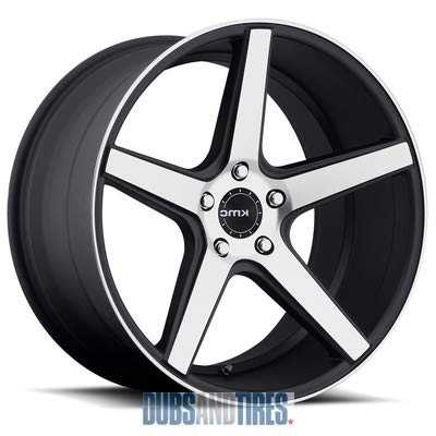 KMC KM685 DISTRICT Satin Black Machined Face Wheel (18 x 8. inches /5 x 72 mm, 38 mm - Rims 20 Mazda