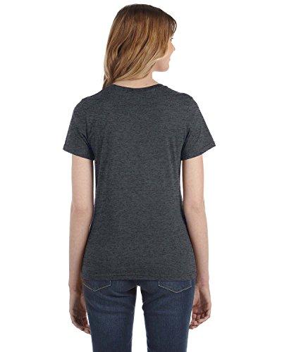 Yunque para mujer hilado y algodón Fashion Fit–Camiseta para hombre HEATHER DK GREY