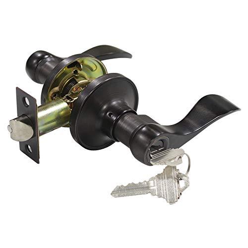 - Keyed Entry Door Lock Oil Rubbed Bronze, Right/Left Handed Entrance Door Lockset, Bed/Bath/Front Door Hardware, Interior and Exterior Hardware