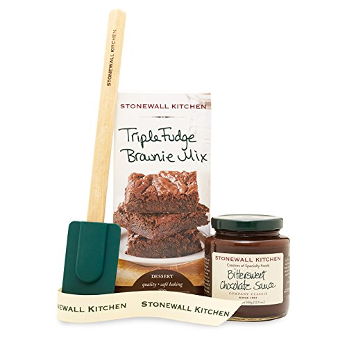 Stonewall Kitchen Triple Fudge Brownie Grab and Go Gift Set (Cooking Gift Basket Ideas)