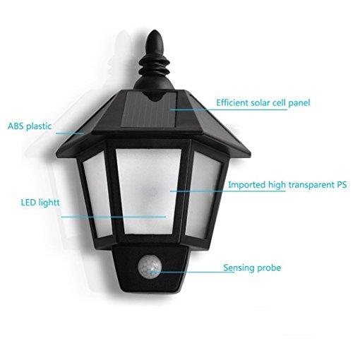 Exterior Motion Light Outdoor Detector Solar Power Wall