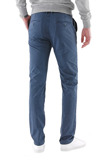 903120 bleu Chino london Homme Pantalon New Park OWqwfST7xI