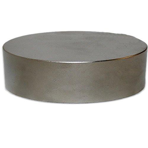 Aimant circulaire en N/éodyme super puissant Nickel/é NdFeB Force dadh/érence 440 kg Aimant rond Disque magn/étique /Ø 100 x 20mm N/éodyme N45