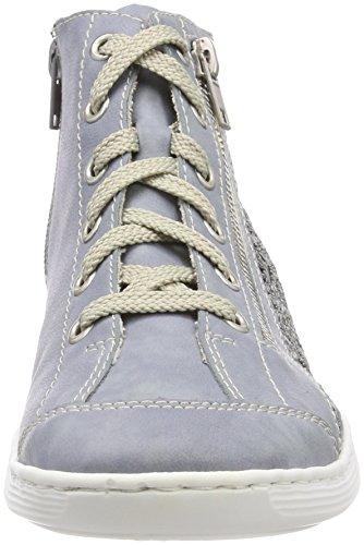 jeans Basses M3539 Sneakers Femme blue Bleu Rieker qHYwx
