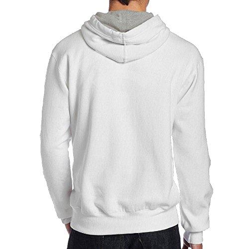 Axingquy Men's Wifi Cross-country Vintage Hoodie Hooded Sweatshirt L White