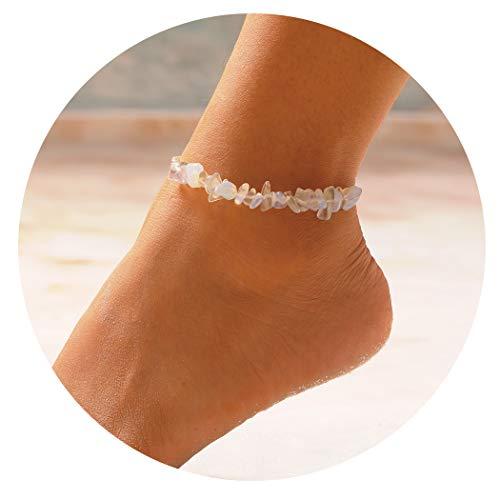 Anklet Bracelet Chakra Natural Gemstones for Women and Girls ()