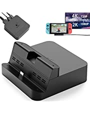 GuliKit Pocket Dock for Nintendo Switch, PD Protocol Avoids Brick, Hyper Trans for 1080P/2K/4K Projection, Magnet Transform Design, Supported Phone Tablet, Charging Dock Air Outlet Black