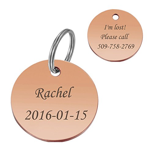 service dog engraved round id tag - 8
