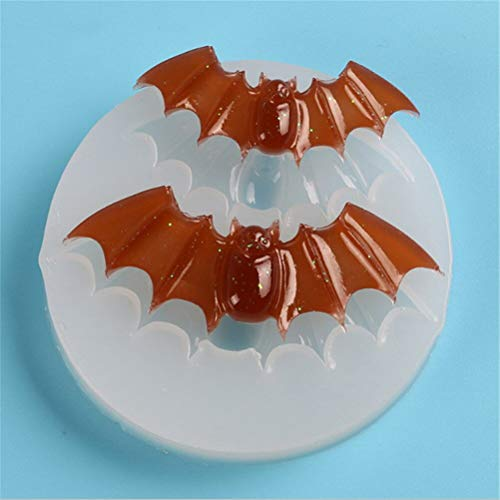 VU ANH TUAN Store Bat Candy Mold Silicone Halloween Bats Fondant Cake Mold Chocolate Clay Candy Molds Kitchen Baking -