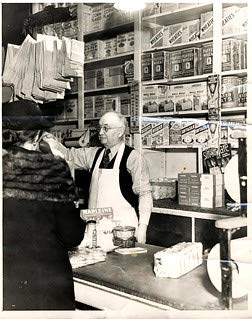HistoricalFindings Photo: Daniel Haas, in his Ann Arbor, Michigan, Grocery Store, 114 West Liberty Street (In Stores Furniture Arbor Ann)