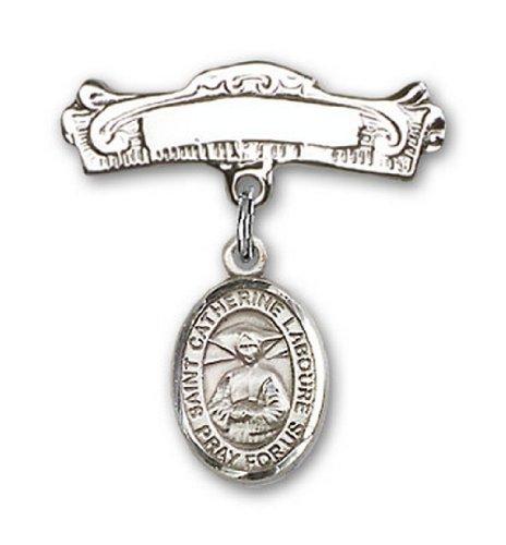Icecarats Créatrice De Bijoux En Argent Sterling St. Catherine Labouré Charme Broches Badge Arc 7/8 X 7/8