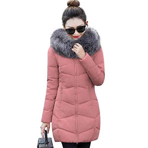 Lady night down jacket Winter Women Parka Womens Winter Jackets Coat Warm Parkas Outerwear Winter Coat Women,Light Pink,M
