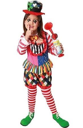 Disfraz de payaso para niña - 7-9 años: Amazon.es: Juguetes ...