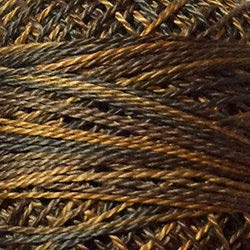 (Valdani Perle Cotton Size 8 Embroidery Thread, 72 Yard Ball - p09 Bronze (variegate))