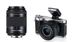 Samsung SMART NX300 Compact System Camera Twin Lens Kit - Black (20.3 MP, CMOS Sensor) 3.3 inch Amoled