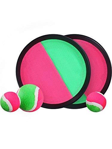 Lvcky - Juego de 5 Piezas de Tartas y Juegos de pádel para Jugar a los niños, 2 Paquetes con 3 Bolas (1 Grande y 2 pequeñas).: Amazon.es: Hogar