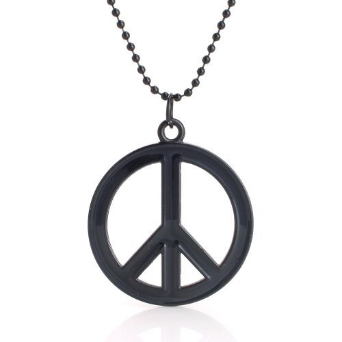 Peace No to War Necklace (Black)