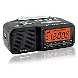TRUE NIGHTVISION MIDLAND AM/FM CLOCK RADIO COVERT CAMERA/DVR WITH WEATHER BAND ALERT