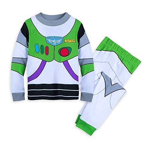 Costume Ideas Boys (Disney Buzz Lightyear Costume PJ PALS for Boys Size 8)