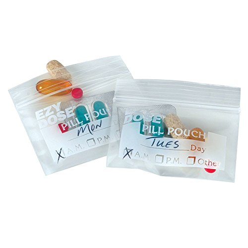5-PACK Ezy Dose Disposable Pill Pouches - 50 Count