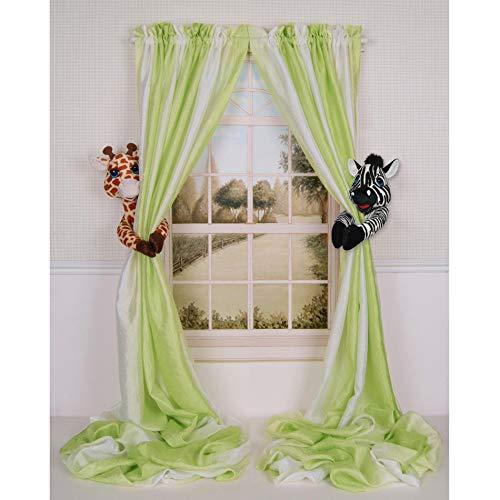Baby Nursery Jungle Safari Giraffe and Zebra Curtain Tieback Collector Set from Curtain Critters