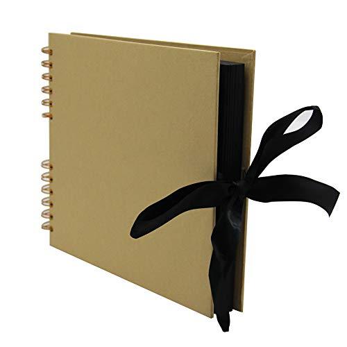 winemana 100 Pages DIY Scrapbook Photo Album with Silk Ribbon Closure, 11.5