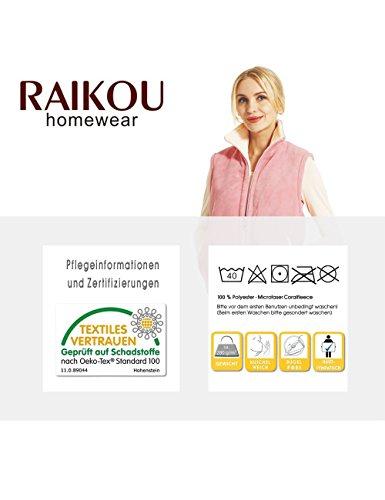 Raikou - Chaleco - Parka - para mujer Anthrazit/Elfenbein