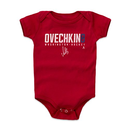 500 LEVEL Alex Ovechkin Washington Capitals Baby Clothes, Onesie, Creeper, Bodysuit (18-24 Months, Red) - Alex Ovechkin Ovechkin8 W WHT