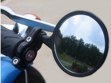 DLLL 7//8 Handlebar Universal Motorcycle Aluminum Black Rearview Bar End Side Mirror Fits Most Harley Davidsons,Suzuki,Honda,Kawasaki Cruisers,Touring Bikes,Sport Bike,Cafe Racers,Electric Scooters side rear view mirrors motorcycle,BMW Victory Indian