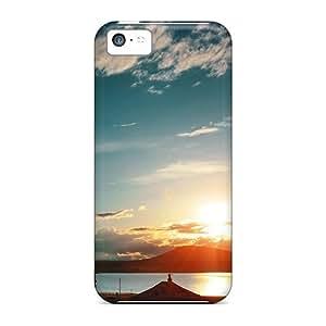 Hot Design Premium TYZzRtu3052yZpbC Tpu Case Cover Iphone 5c Protection Case(armenia Sunset From Train) by icecream design