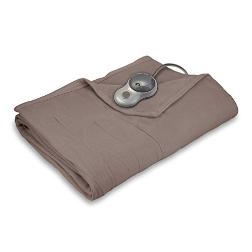Price comparison product image Sunbeam Quilted Fleece Heated Blanket, Full, Mushroom, BSF9GFS-R772-13A00