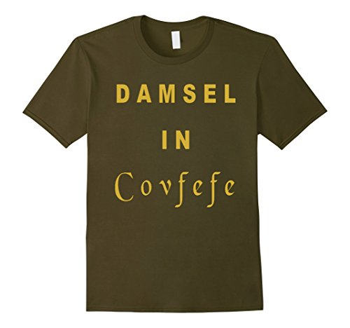 Mens Damsel In Covfefe T Shirt 2XL Olive