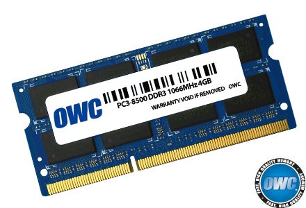 OWC 4.0GB PC8500 DDR3 Non ECC 1066 MHz 204 pin SO-DIMM Memory Module by OWC