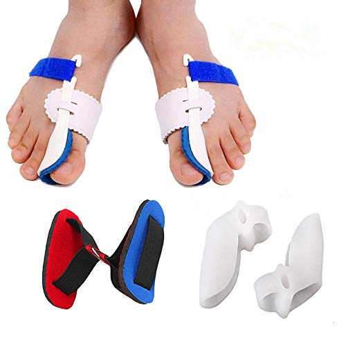 Bunion Corrector Adjustable Bunion Splint Night Time Soft Gel for Bunion Relief, Bunion Corrector and Bunion Relief Protector Brace Kit for Big Toes, Bunion Pads, Toe Straightener, Toe Separators ¡ (Best Bunion Splint Reviews)