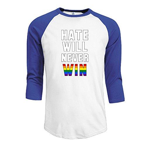 Raglan Gay Rainbow Flag - Gay Pride Rainbow Flag Raglan 3/4 Sleeve Baseball Tee