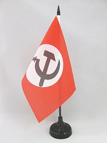 AZ FLAG Bandiera da Tavolo URSS Partito NAZIONAL BOLSCEVICO 21x14cm - Piccola BANDIERINA NAZIONALBOLSCEVISMO 14 x 21 cm
