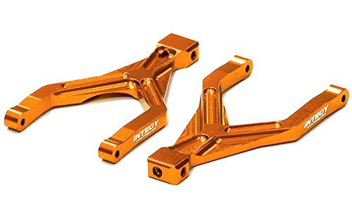 Integy RC Model Hop-ups T3551ORANGE Billet Machined T2 Rear Upper Arm (2) for 1/16 Traxxas E-Revo VXL & Summit VXL
